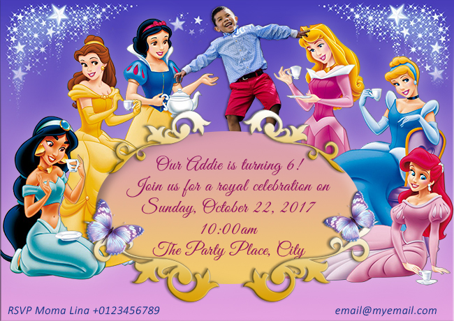 custom disney invitations